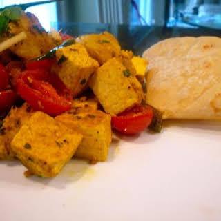Indian Spicy Cumin Potatoes With Green Chili Tofu.