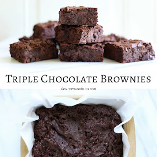 Triple Chocolate Brownies.