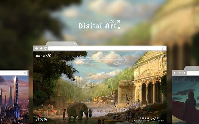Digital Art HD Wallpaper Theme