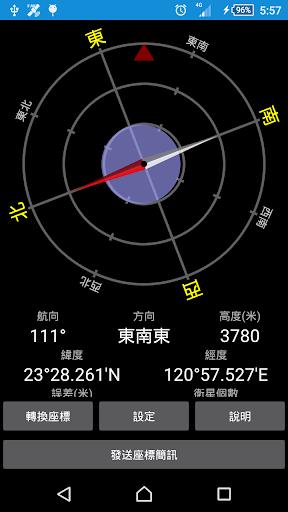 台灣大地羅盤及座標轉換工具