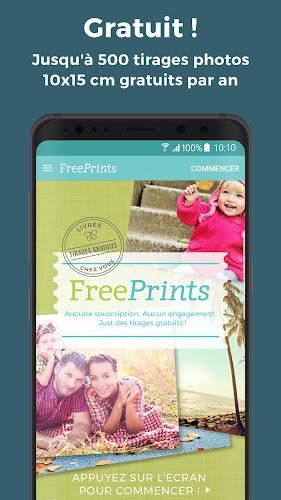 FreePrints – Impression photo gratuites Android App Screenshot