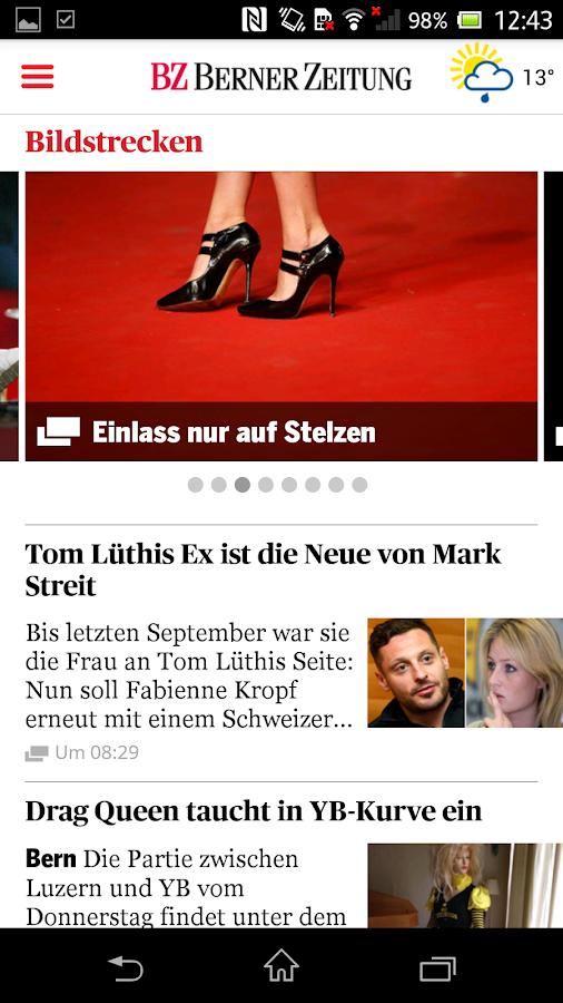 Berner Zeitung - screenshot