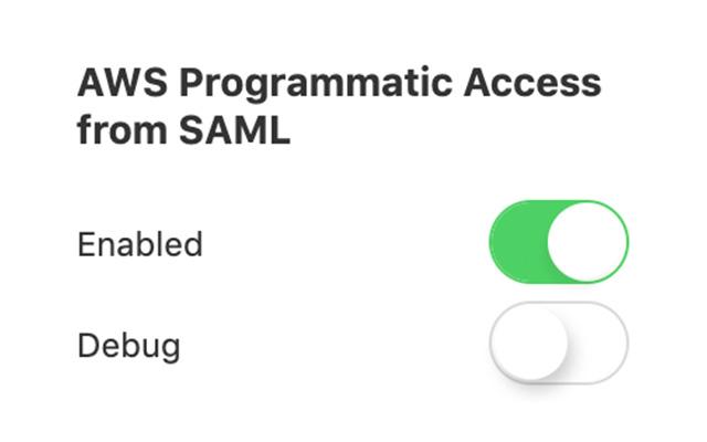 AWS Programmatic Access from SAML