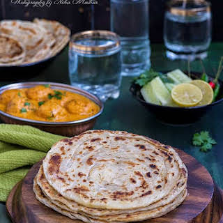 Laccha Paratha / Multi Layered Indian Flat Bread.