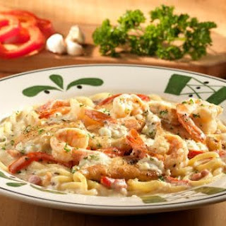 Chicken And Shrimp Carbonara.