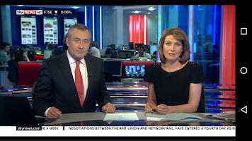 Screenshot of Sky News
