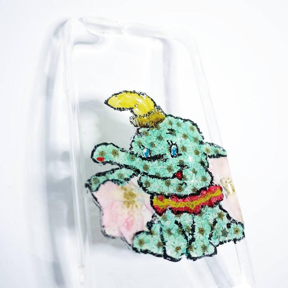 [訂製/custom-made] Dumbo Pressed Flower Phone Case