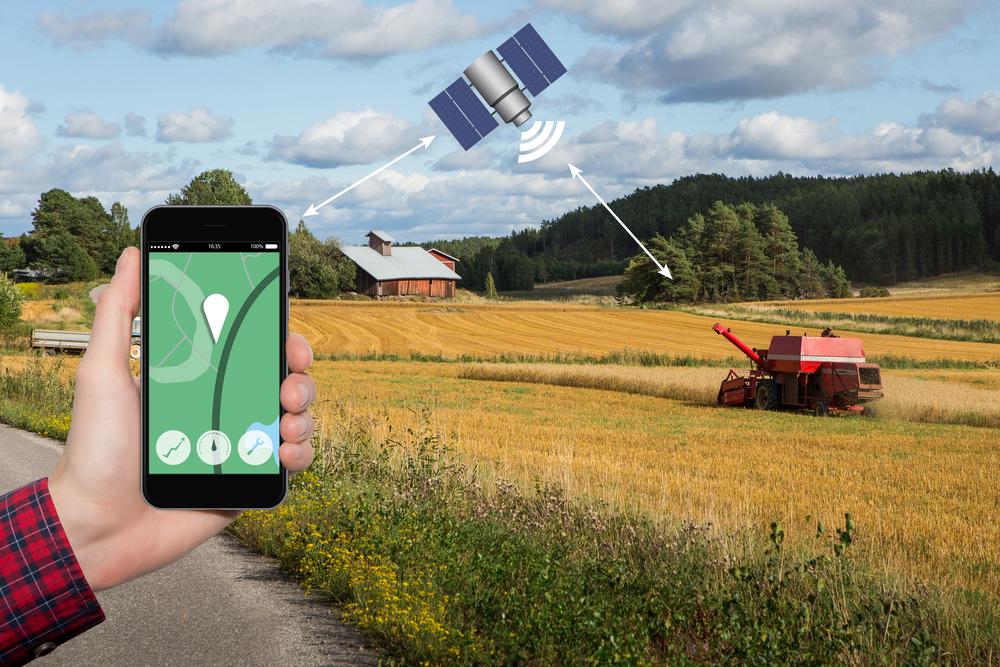 Os satélites possibilitam o início do uso em larga escala da agricultura de precisão. (Fonte: Shutterstock)