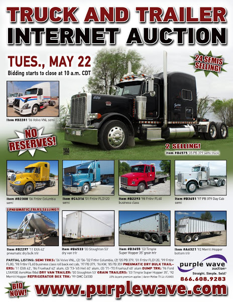 Photo: Truck and Trailer Auction May 22, 2012 http://purplewave.co/120522