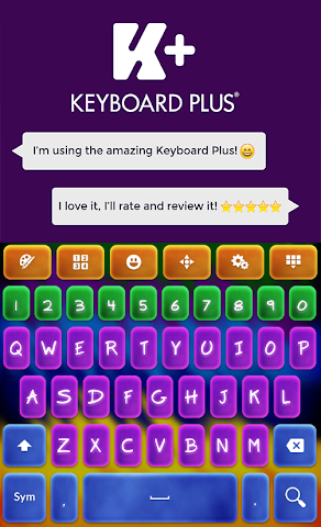 android Crazy Colors Keyboard Screenshot 1