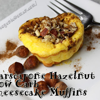 Mascarpone Cheese Hazelnut Low Carb Cheesecake Muffins Recipe