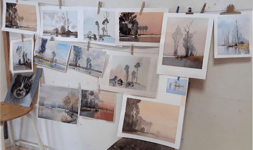 Jeanne PAPA_ Cours aquarelle 2019 seine et marne Fontainebleau