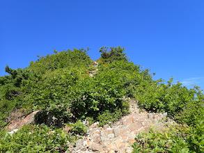 アカモノの頂は岩稜