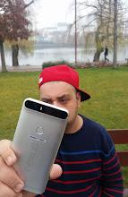 Photo: Giveaway winner Adrian Z. showing off his new Nexus 6P.