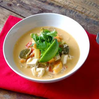 Sweet Potato & Tofu Thai Curry Stew.