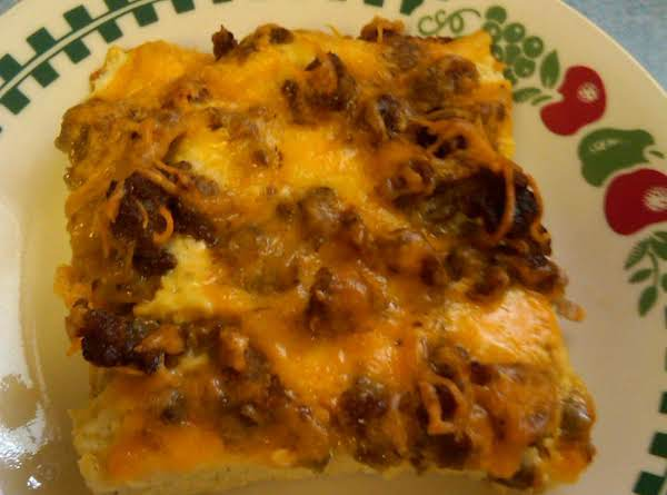 Sausage & Cheddar Breakfast Strata Recipe