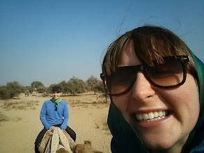 Photo: Sarah's camelback selfie.  Daloo ducked the camera.