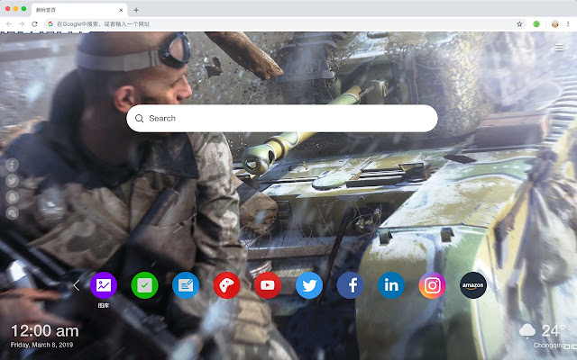 Battlefield 5 New Tab Page HD Hot Games Theme