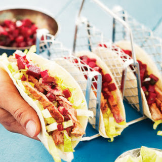 Herbed Skirt Steak Tacos with Beet & Fresno Chile Salsa