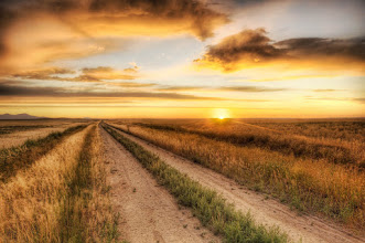Photo: A lonely road at sunset... on the edge of the badlands in Montana.  I took this one summer night after spending the day digging up dinosaurs with Jack Horner. That guy is awesome.