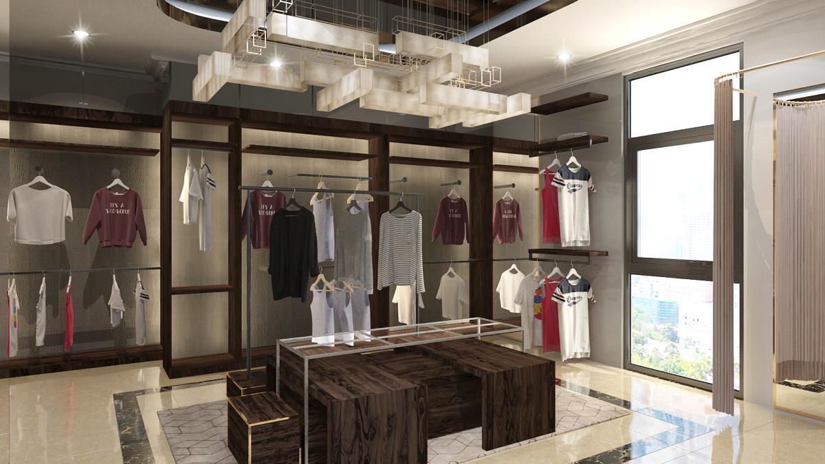 thiết kế shop thời trang sang trọng 20