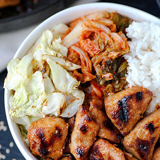 Chicken Bulgogi With Cabbage.