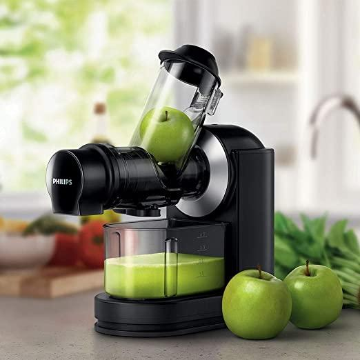 Philips Viva Cold Press Masticating Slow Juicer with X-Large Feed Tube,  Drip Stop, Quick Clean and Recipe Booklet – Black/Silver – HR1889/71 :  Amazon.co.uk: Home & Kitchen