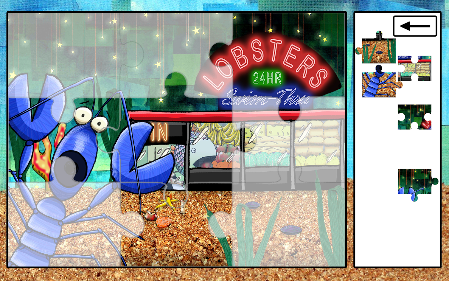 Greedy Fish Kids Jigsaw Puzzle- screenshot
