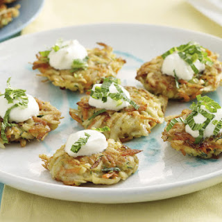 Curried Potato and Vegetable Pancakes.