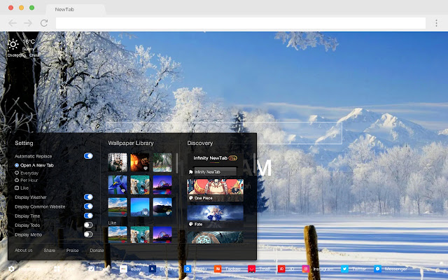 Frost New Tabs HD Hot Scenery Theme