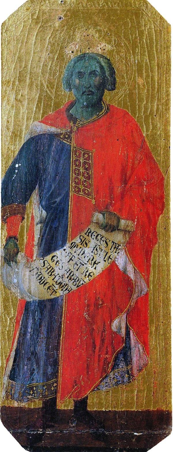 Duccio di Buoninsegna, Predella della Maestà, Salomone