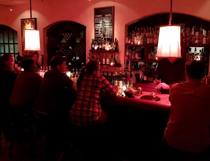 The bar at Il Bistro.