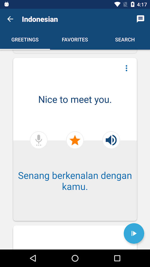 Learn Bahasa Indonesian- screenshot