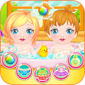 Newbown twins baby game icon