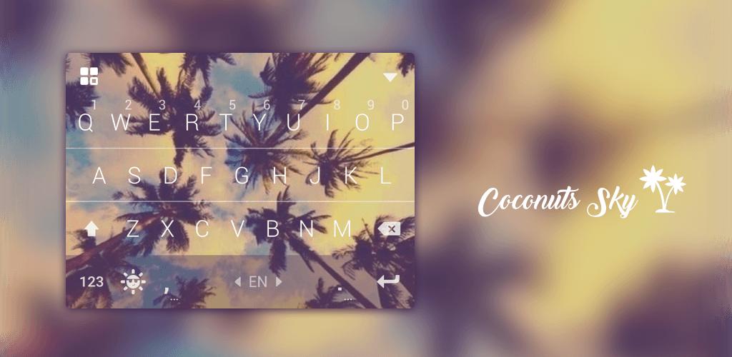 Coconut Keyboard Theme - Delicate,Customizable