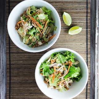 Thai Chicken Salad with Peanut Dressing.