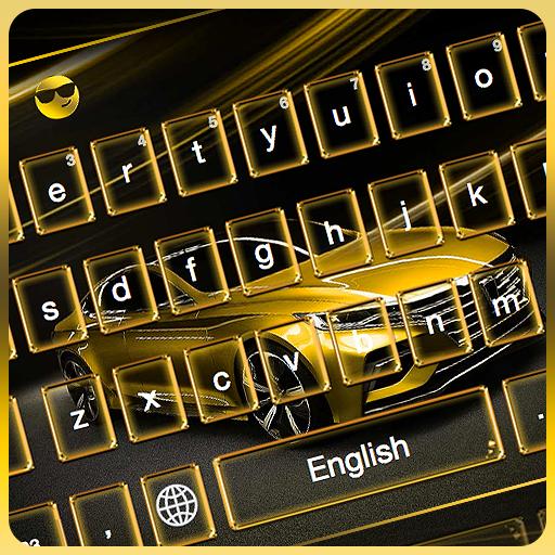 Golden Car Keyboard Theme
