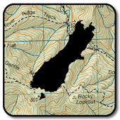 NZ Topo50 Offline Sth Island Map and Hunting Areas