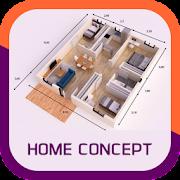 Minimalist 3D house concept