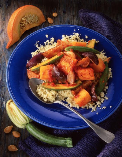 Harissa Vegetables with Couscous