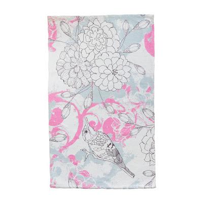 Коврик для ванной Ag concept Birds розовый 70х120 см