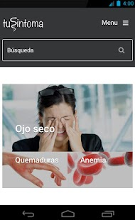 tuSintoma.com- screenshot thumbnail