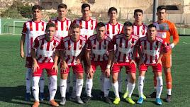 Once inicial del Almería A juvenil frente al Granada.