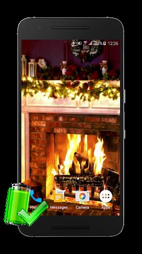 クリスマス暖炉ライブ壁紙