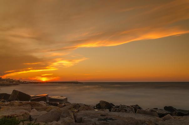 tramonto su seta di Francesco di Coste