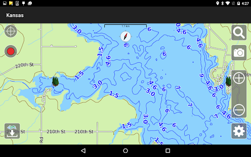 Aqua Map Kansas Lakes GPS- screenshot thumbnail