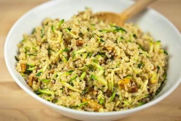 Quinoa, Zucchini And Toasted Walnut Pilaf Recipe