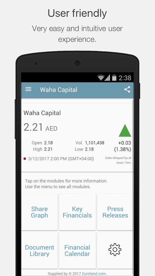 Waha Capital IR- screenshot
