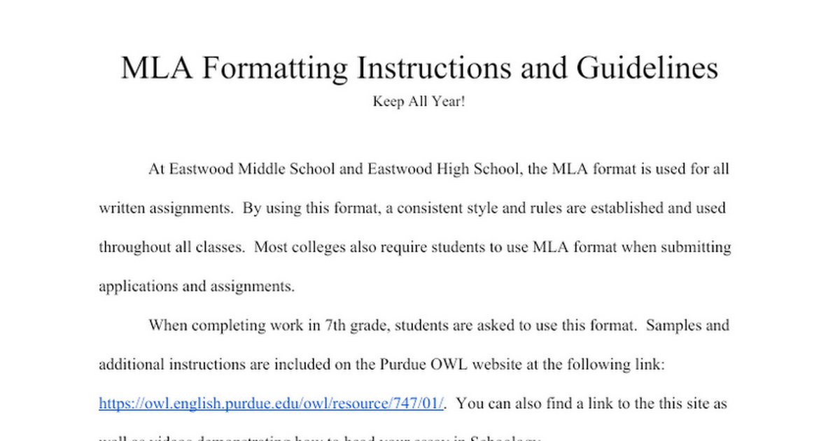 how does mla format look 01) if you've been asked to submit a paper in mla style, your instructor is asking you to format the page and present the content in a specific way just as football referees dress a certain way, and japanese chefs cook a certain way, writers in certain disciplines follow a certain set of.