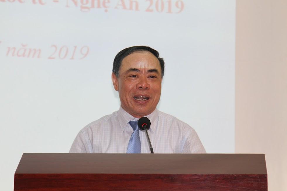 Đồng chí Nguyễn Mạnh Cường, Giám đốc Sở Du lịch phát biểu tại buổi họp báo